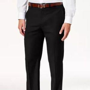 HAGGAR Mens Black Dress Pants Size 34 x 31